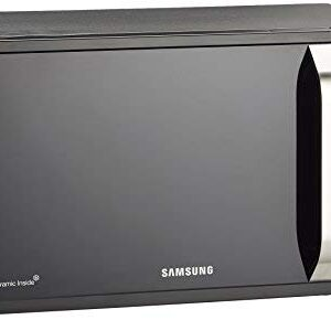 Samsung MG23F302TAK Forno a Microonde, Grill 1100 W, 23 Litri, Healthy Cooking, Nero/Argento
